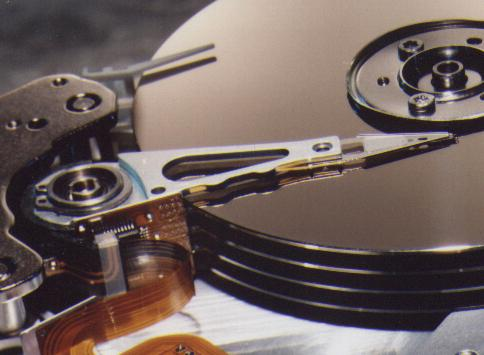 Photo of hard drive internals
